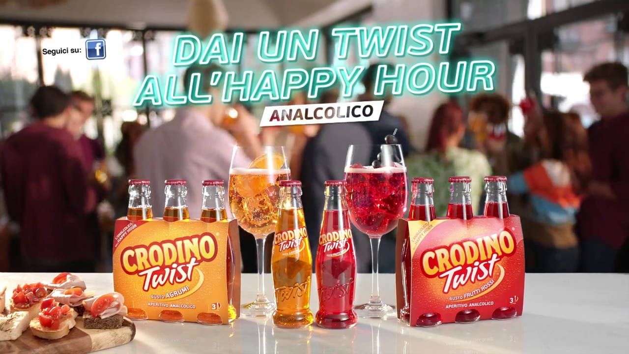 spot crodino dai un twist all'happy hour