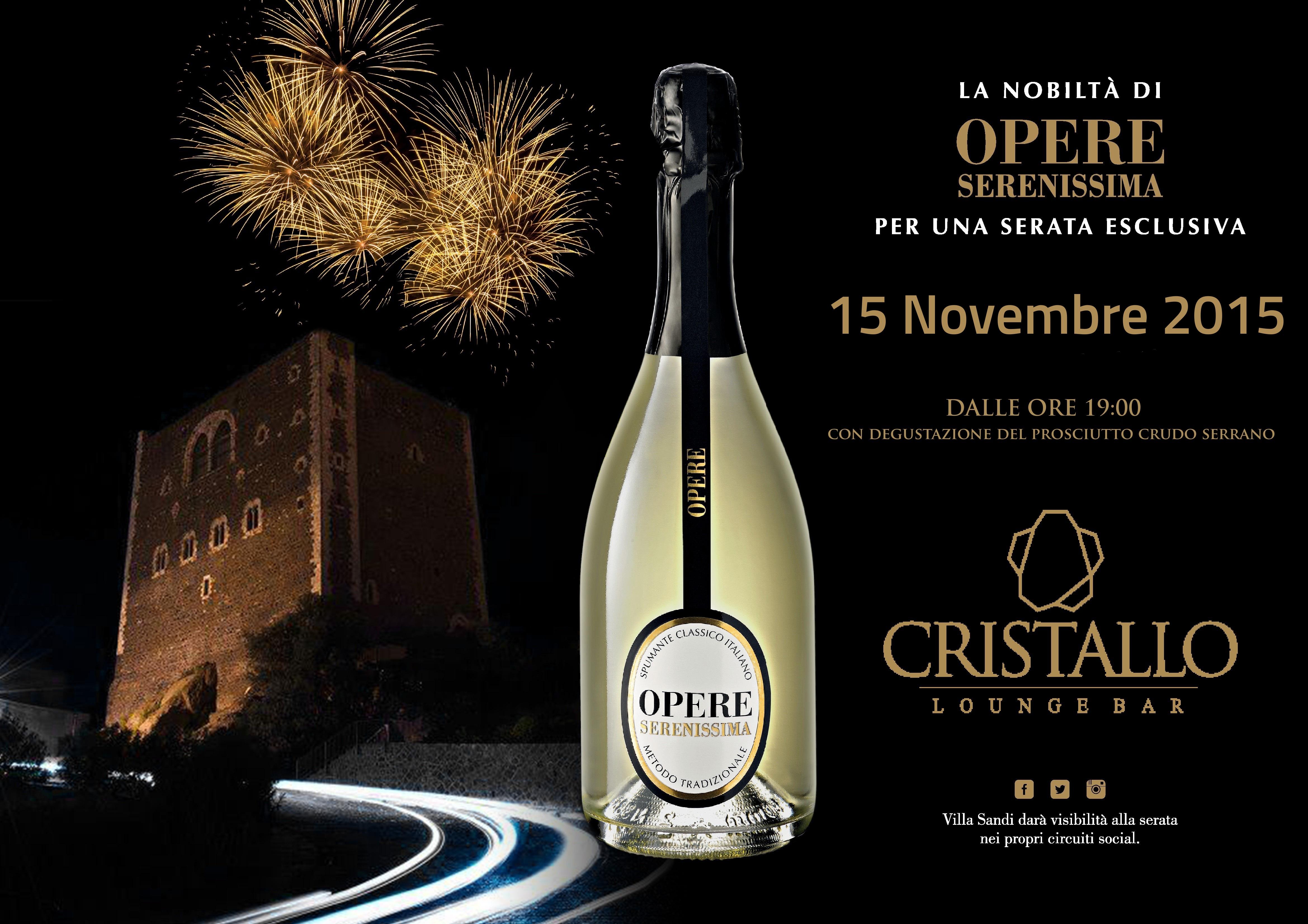 opere serenissima evento cristallo 15 Novembre 2015